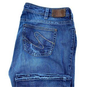 Silver Jeans 18x32 Tuesday Bootcut Distress Jeans